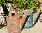 Garden Shower -  Farmhouse Red Watering Can Industrial Chic