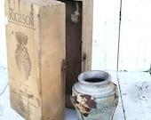 Vintage Italian Wine Box Crate Chest Barone Ricasoli. Under the Tuscan Sun