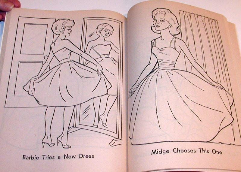 Vintage 1963 Barbie Coloring Book Unused