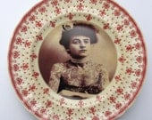 The Tattooed Lady - Altered Antique Plate