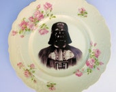 Dark Lord, Darth Vader Portrait Plate - Altered Antique Plate