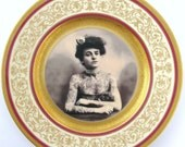 The Tattooed Lady - Altered Vintage Plate
