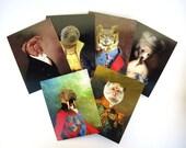 Anthropomorphic Series - Art Notecard Set, Pack of 6