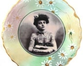The Tattooed Lady - Altered Limoges Plate