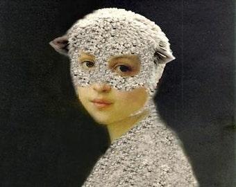 Mary Was a Little Lamb - 5 X 7 Fine Art Print