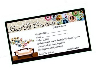 BeatUpCreations Gift Certificate - 50.00 Value