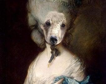 Marie Beartoinette - Altered Image - 5 X 7 Art Print