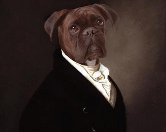 Portrait of Brutus - 5 X 7 Fine Art Print