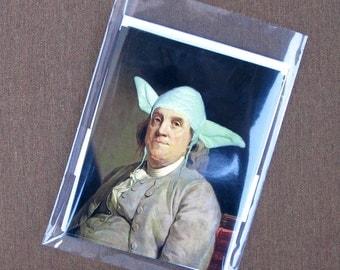 Yodamin Franklin - Art Notecard Set, Pack of 3