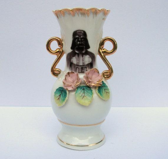 Dark Lord, Darth Vader and Yoda - Altered Antique Vase