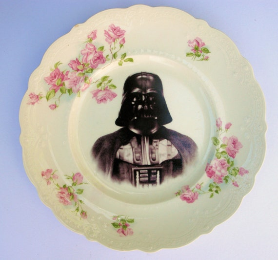 Dark Lord, Darth Vader Portrait Plate - Altered Antique Plate