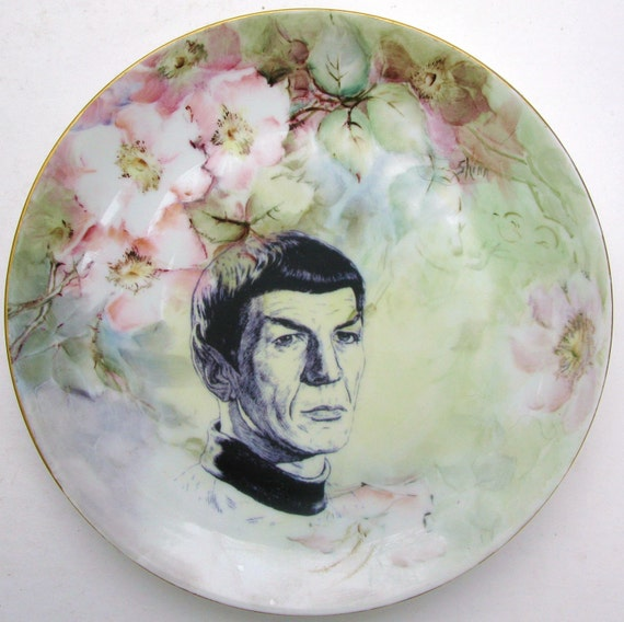 Spock Portrait Plate - Altered Antique Plate