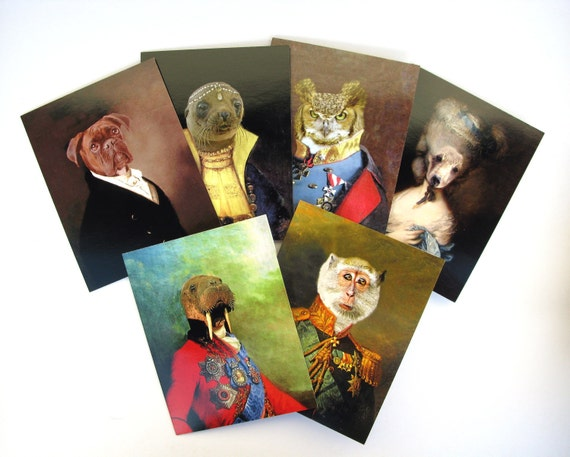 Anthropomorphic Series - Art Notecard Set, Pack of 6