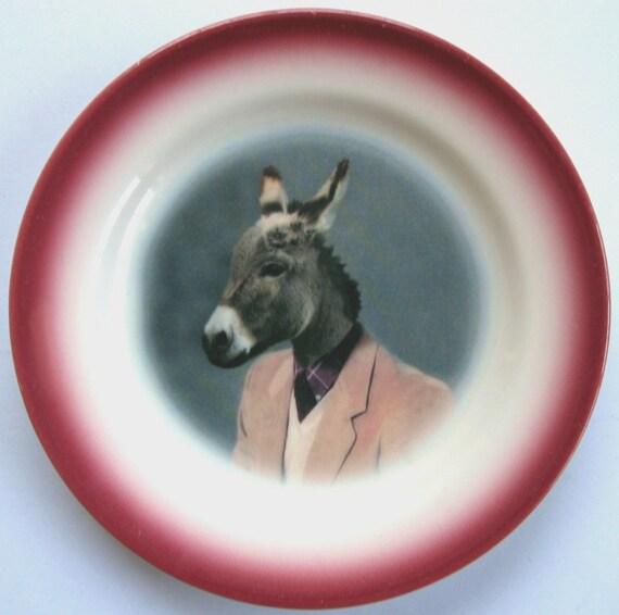 Jack Ass Portrait - Altered Vintage Plate