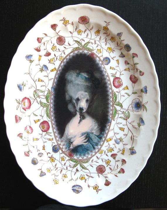 Marie Beartoinette - Altered Vintage Plate