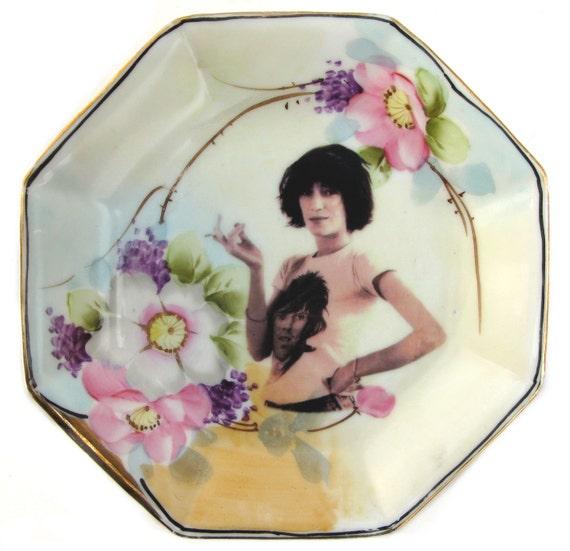 Patti Smith Portrait Plate - Altered Antique Plate