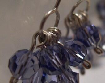 Lavender Crystal Earrings