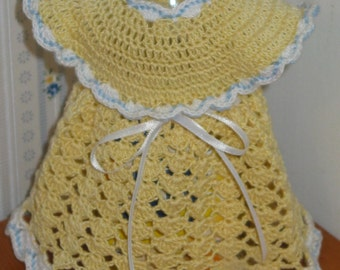 Decorative Dress Kitchen or Bathroom Decor yellow and blue