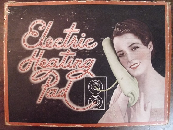 Vintage 1930's Lobwell Heating Pad In Original Box  Works