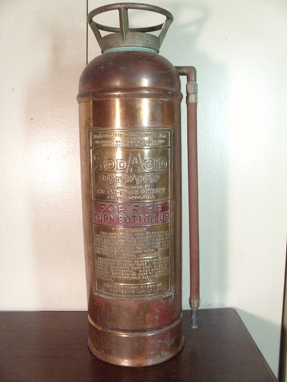 Vintage Fyr Fyter Copper Fire Extinguisher