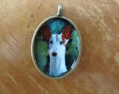 Custom Hand painted dog pendant. You choose the breed.