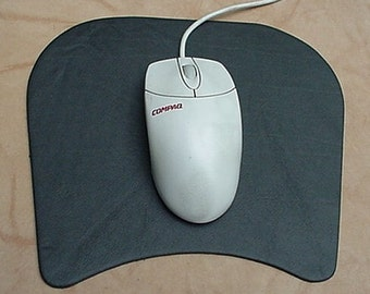 Genuine Topgrain Leather Ergo MOUSE PAD Mousepad BLACK