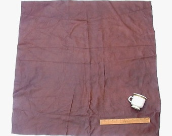 UPHOLSTERY LEATHER PIECE Cowhide Dark Brown Lt Wt 9 Sf
