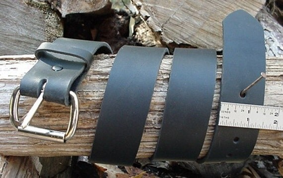 mens heavy black leather belt 1 1 2 inch wide size by