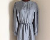 SALE Vintage 1980's Gunmetal Mini Dress (m-l)