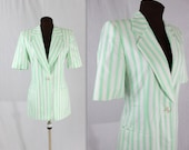 Escada Blazer / Striped Jacket / Vintage Escada