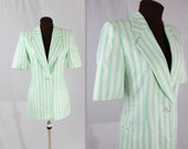 Escada Blazer / Striped Jacket / Vintage Escada