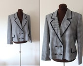 40% OFF SALE Vintage 1980's Jaeger Classic Checkered Blazer (xl)