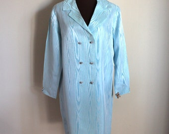 Vintage 1960's Ice Blue Swing Coat (l-xl)