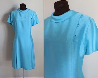 Vintage 1960's Space Age Shift Dress (l)