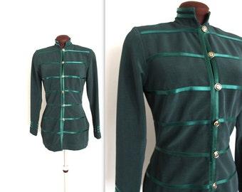 40% OFF SALE 1980s Military Jacket / Tadashi Jacket / Hourglass Blazer (m)