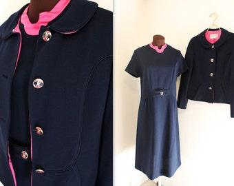 40% OFF SALE SALE 1960s Suit / Cropped Jacket / Wiggle Dress (m-l)