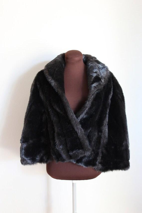 Vintage Faux Fur Wrap Stole