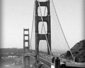 Golden Gate Bridge, San Francisco,  California, black and white photograph, wall decor, cityscape photo