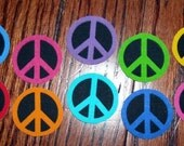 20 Pc Retro Peace Signs No Sew Iron On Appliques Cotton Patches