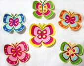 4 Colorful Butterflies No Sew Iron On Appliques Cotton Patches Butterfly