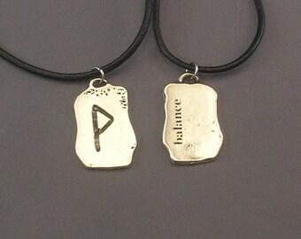 Balance Rune Pendant Necklace