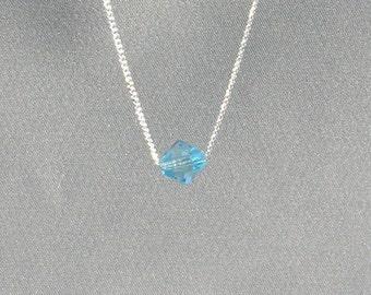 March Birthstone- Aquamarine Necklace