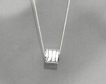 Zebra Print Glass Bead Necklace