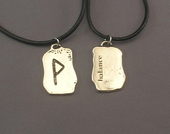 Balance Rune Pendant Necklace