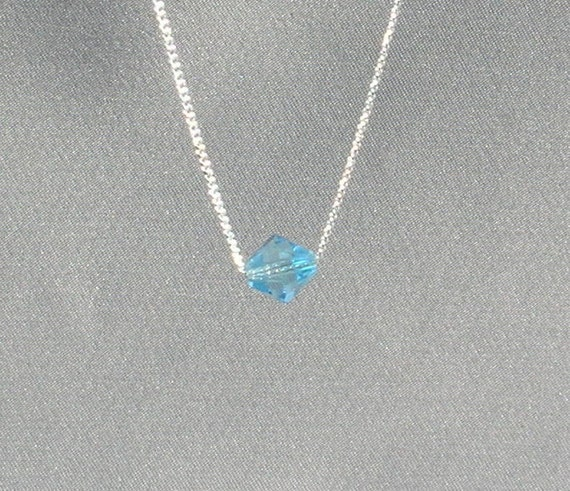 March Birthstone- Aquamarine Necklace
