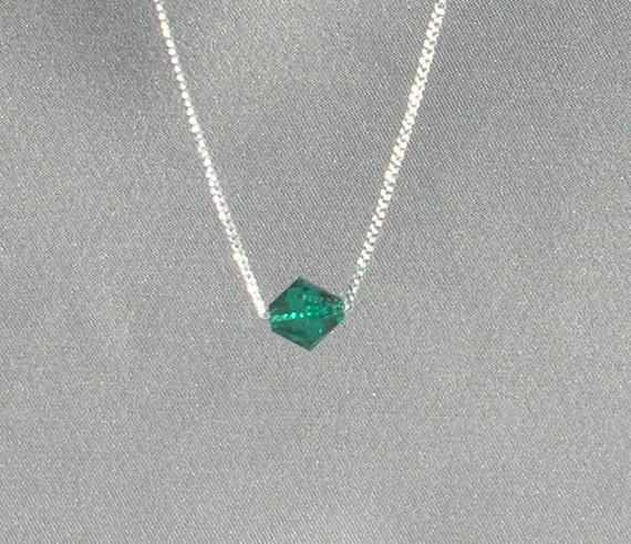 May Birthstone- Emerald Necklace