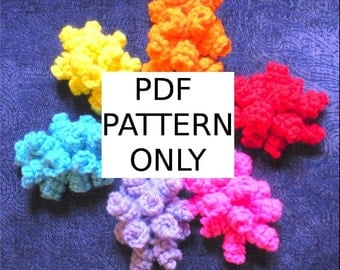 PDF PATTERN with Pictures: Crochet Curliecue Barrette Hat or Hair Accessory