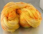 Sun Glo - hand dyed yarn Sock/Fingering weight