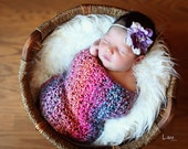 Newborn photo prop wrap - Coral Reef- MADE TO ORDER