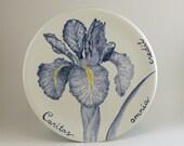 Cobalt blue iris plate